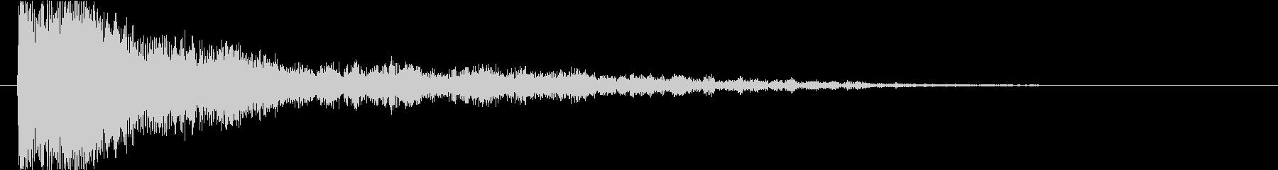 ポン(選択音、決定音)の未再生の波形