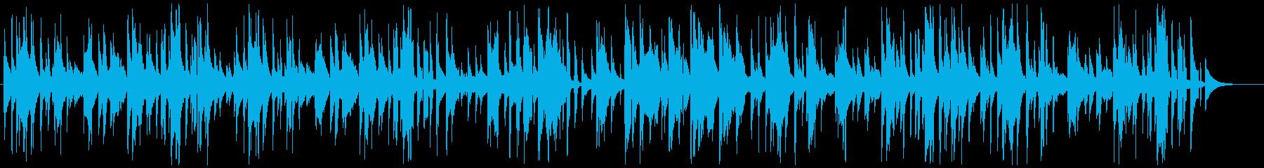 口笛とウクレレによる、のどかでゆるい曲の再生済みの波形