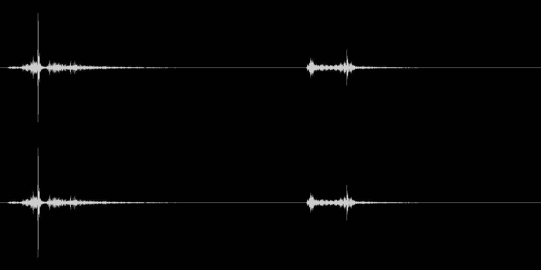 【生録音】ハサミの音 1の未再生の波形