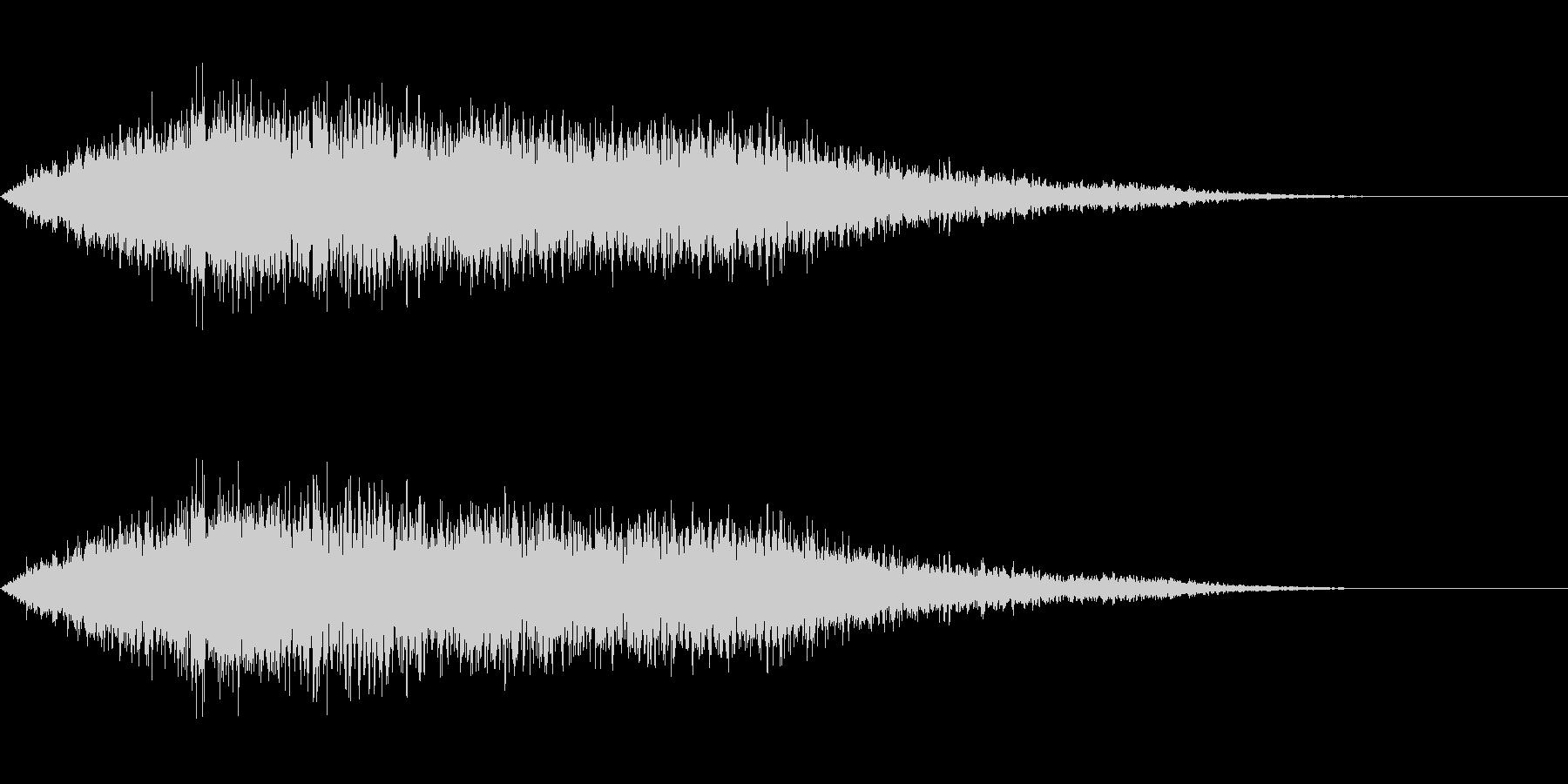 タイトルバック ホラー5の未再生の波形