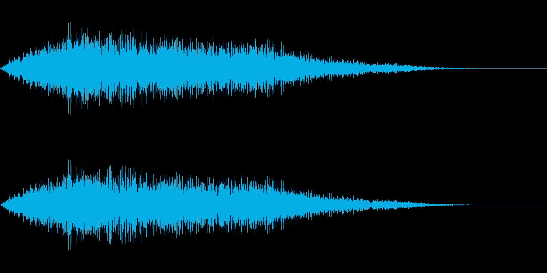 タイトルバック ホラー5の再生済みの波形