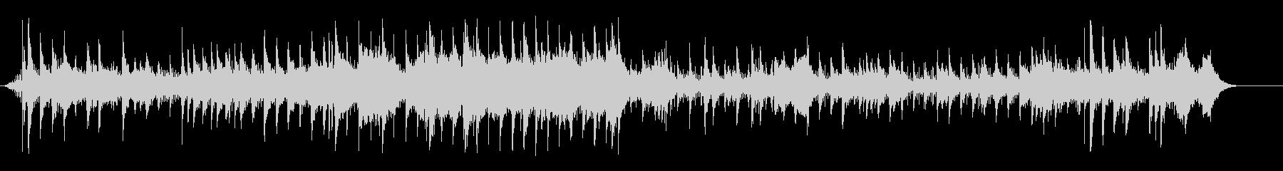 幻想的ムードのフュージョン風サウンドの未再生の波形