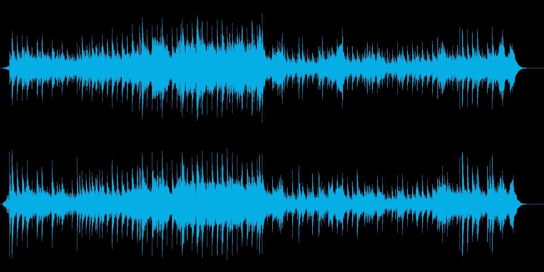 幻想的ムードのフュージョン風サウンドの再生済みの波形