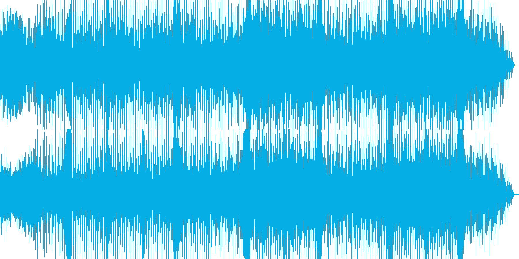 ワブルベースが印象的な疾走感あるEDMの再生済みの波形