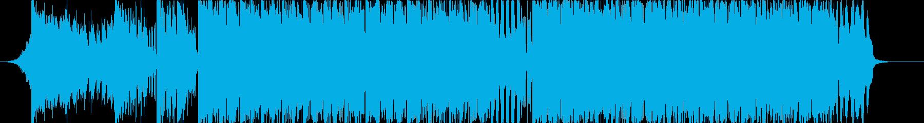 短めなビッグビートのジングルの再生済みの波形