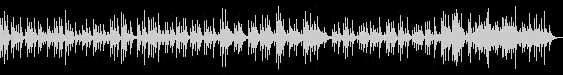 優しくて感動的なピアノBGM(独奏)の未再生の波形