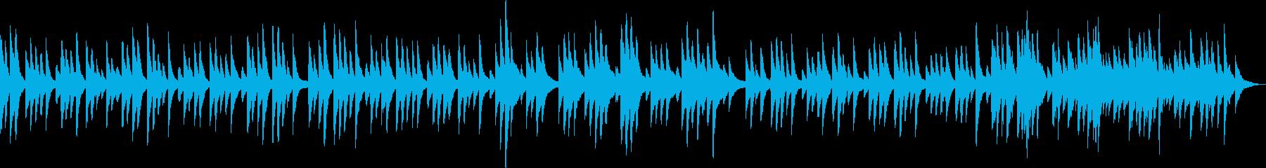 優しくて感動的なピアノBGM(独奏)の再生済みの波形