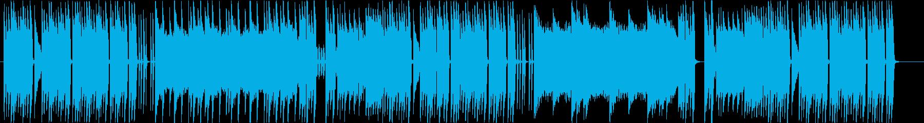 楽しい可愛いチップチューン曲の再生済みの波形