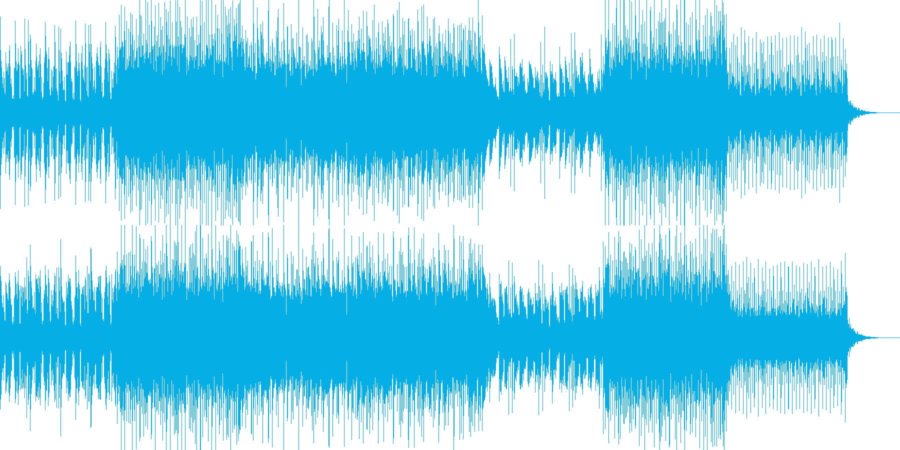 明るく心がウキウキするポップス曲の再生済みの波形