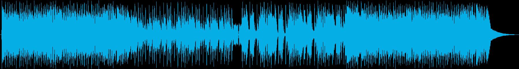 ロックで洋楽なギターがメインの曲の再生済みの波形