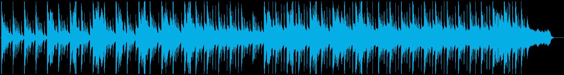 アイヌの歌を使った曲の再生済みの波形