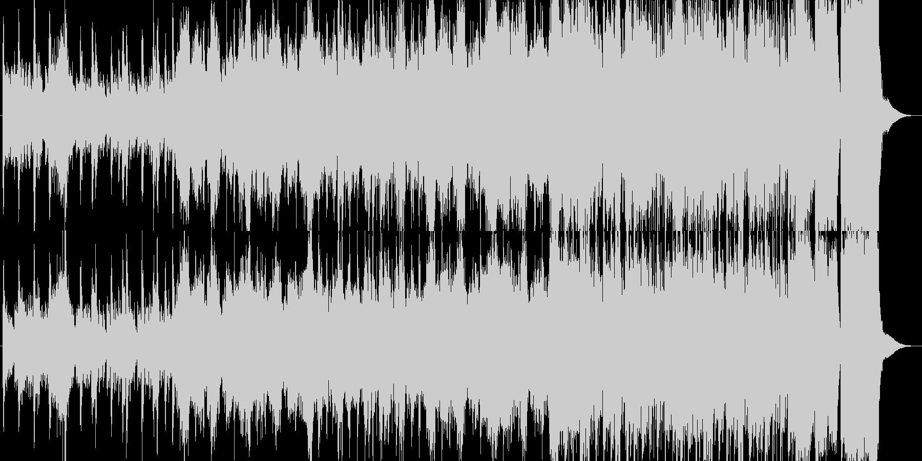 壮大な雰囲気のマーチ風オーケストラBGMの未再生の波形