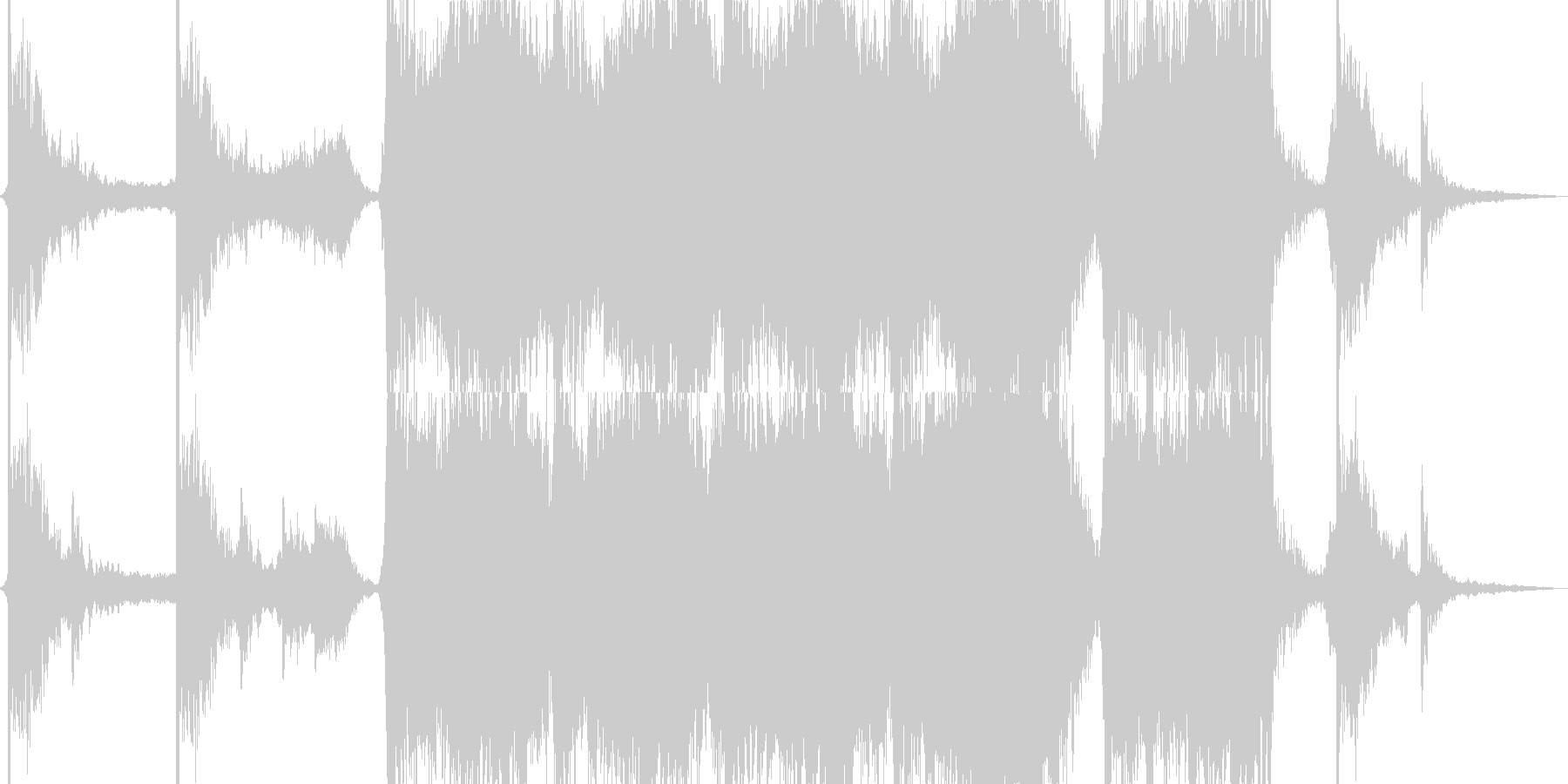 Sci-Fiシネマティックトレーラーの未再生の波形