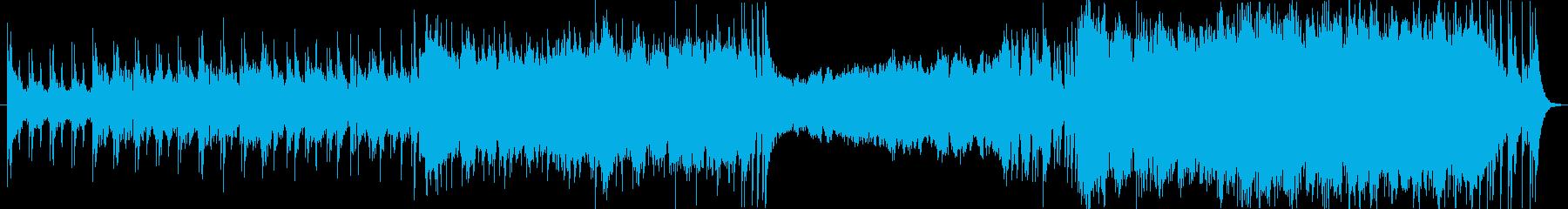 オーケストラによる生き生きした曲の再生済みの波形