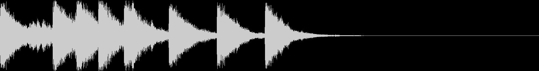 ベル ファンファーレ シンプル 01の未再生の波形