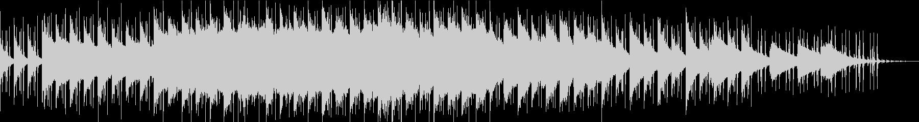 緩めのエレクトロ曲の未再生の波形