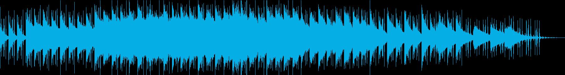 緩めのエレクトロ曲の再生済みの波形