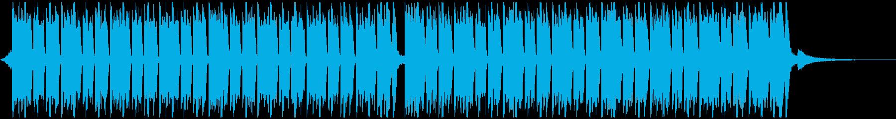 スポーツ音楽(40秒)の再生済みの波形