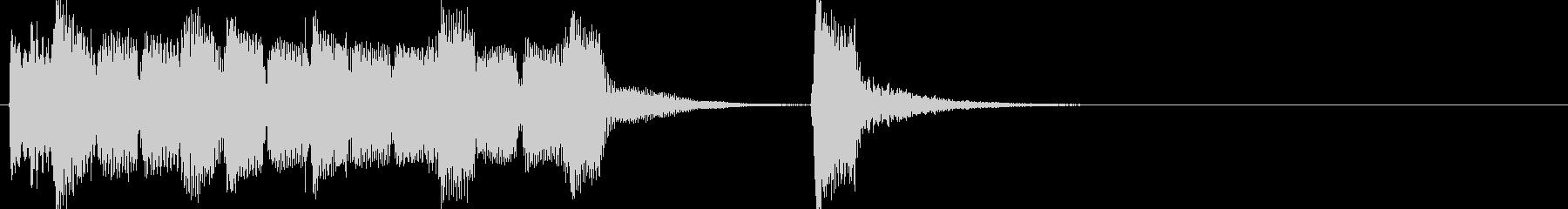 のほほんとしたリコーダーのジングルの未再生の波形