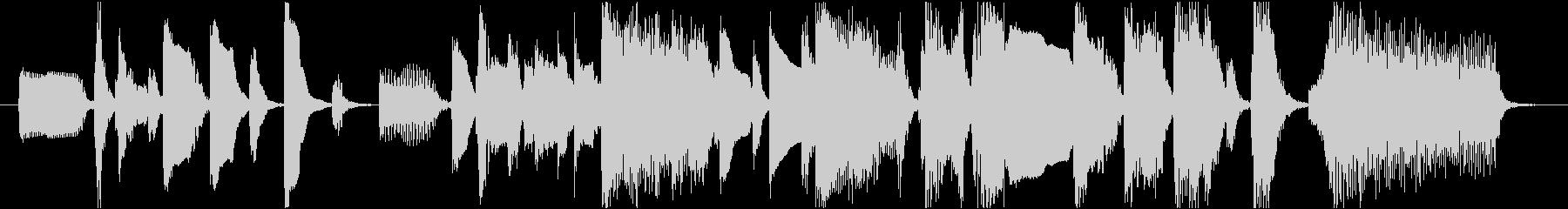 ローズピアノのファンキーなジングル12秒の未再生の波形