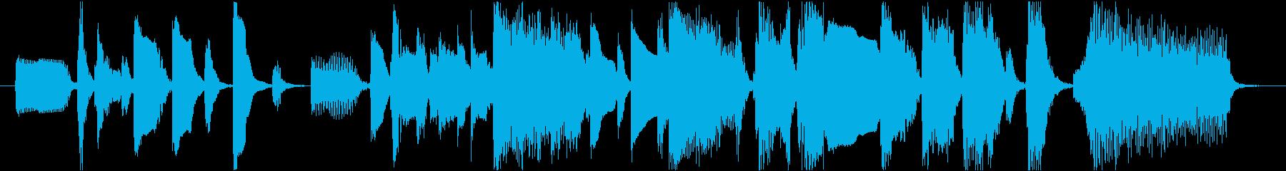 ローズピアノのファンキーなジングル12秒の再生済みの波形