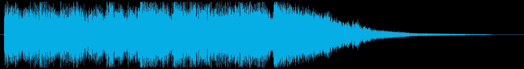 映像・ジングルわくわくするファンクの再生済みの波形