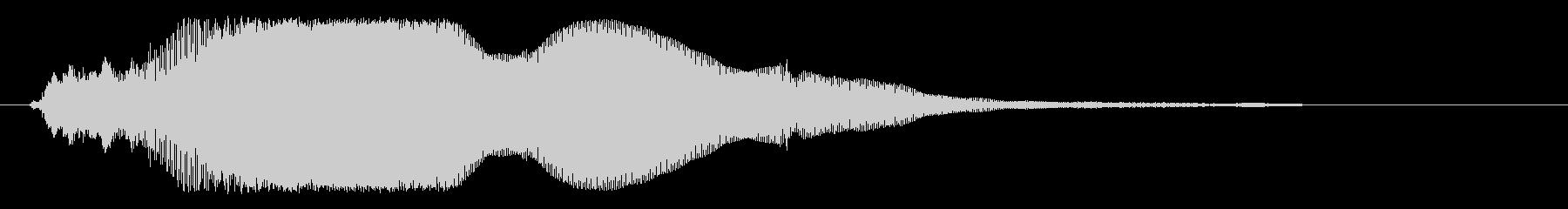 キンというガラスの音の未再生の波形