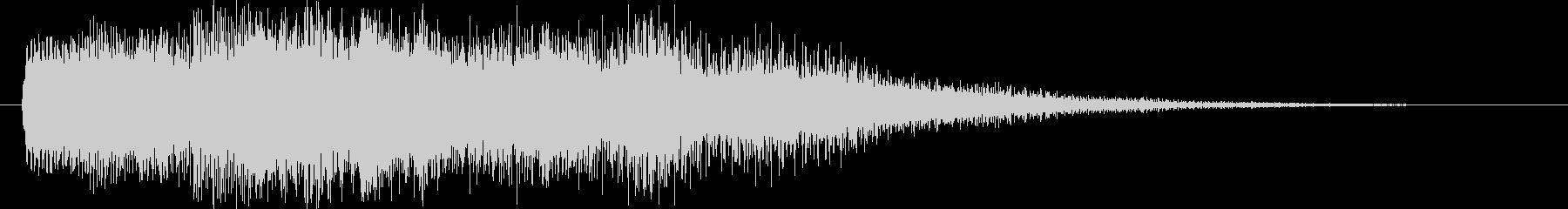 近未来的なステータスアップ音。ゲーム用の未再生の波形