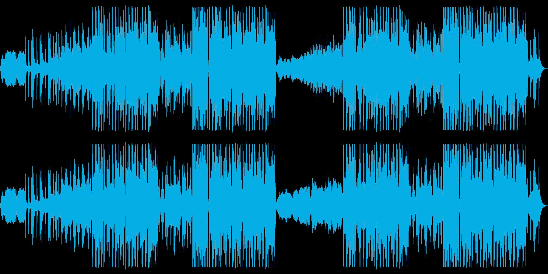 尺八と琴の和風EDMの再生済みの波形