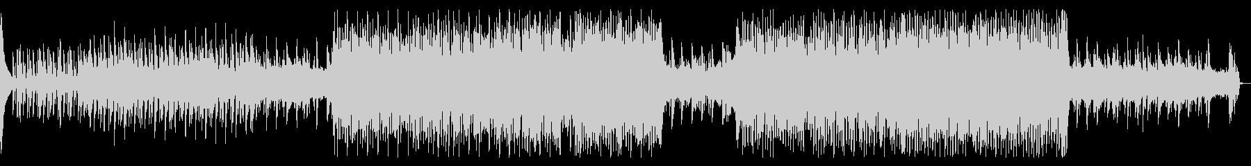 シンプルなポップテクノの未再生の波形