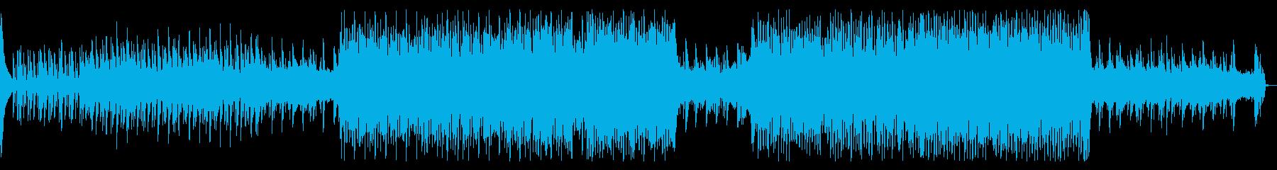 シンプルなポップテクノの再生済みの波形