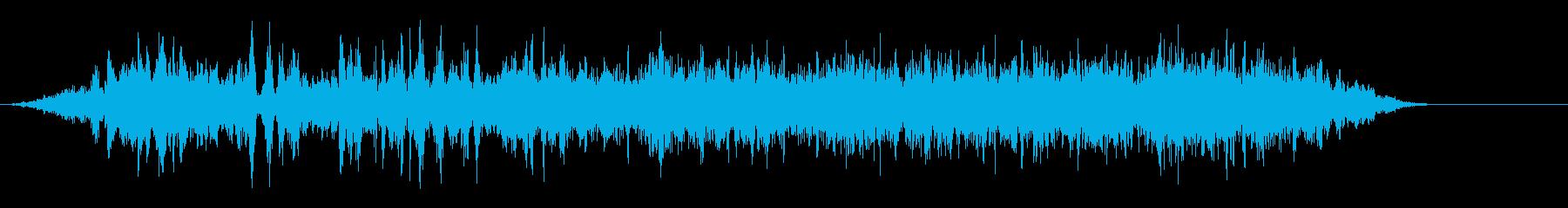 メトロ7閉扉の再生済みの波形