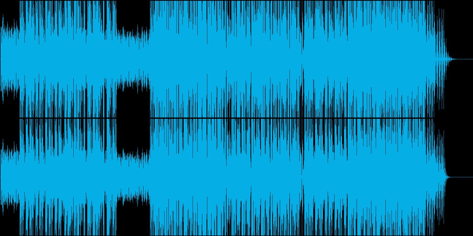 テンポが良く疾走感のあるBGMの再生済みの波形