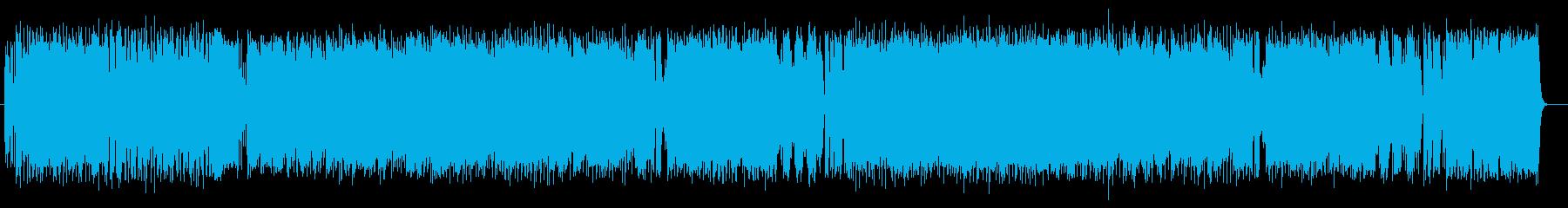 明るくポップなインスト曲の再生済みの波形