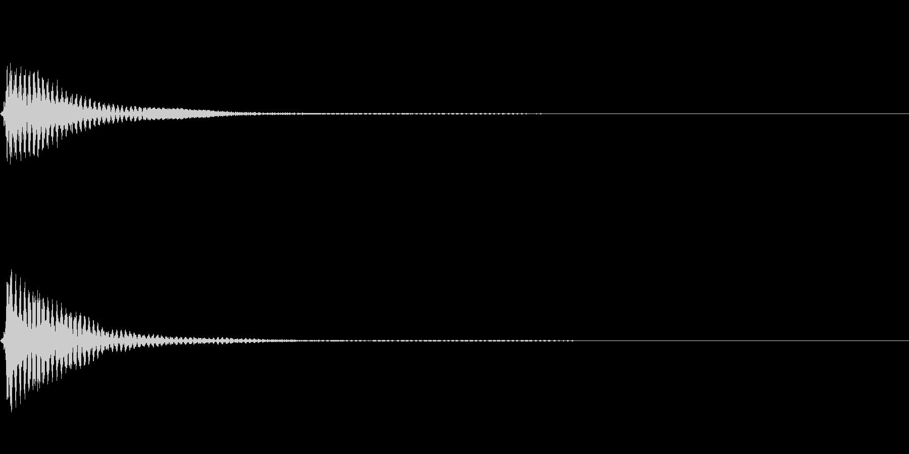 ハープの音色のボタン決定音の未再生の波形