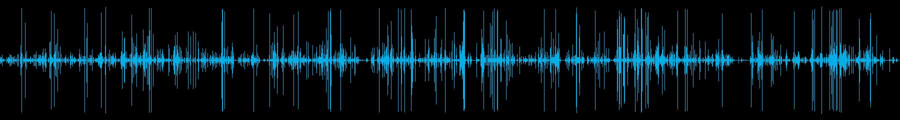 猫がキャットフードを食べてる音01の再生済みの波形