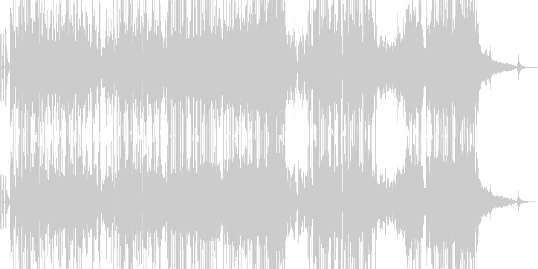 バイオリン・涼しい雰囲気のポップ 長尺の未再生の波形