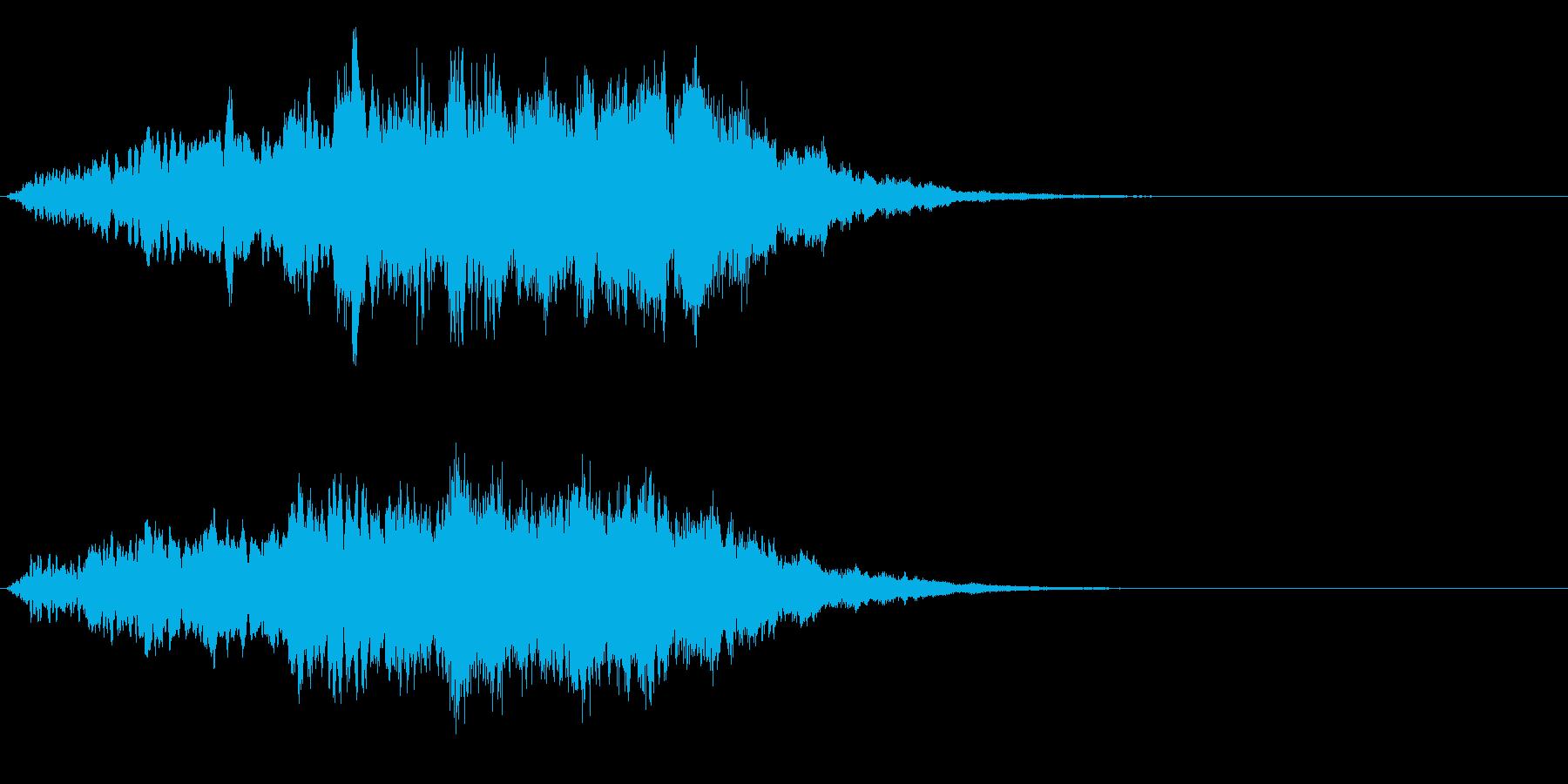 キラキラ↓ゆるやか下降フレーズの再生済みの波形