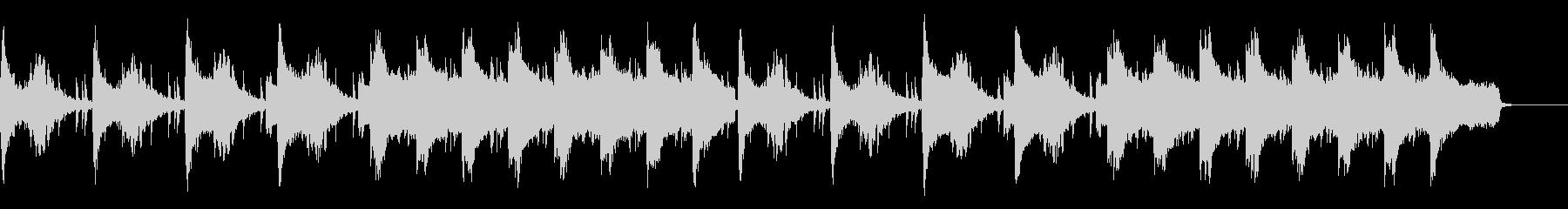 不穏なシーン用 ピアノとストリングスの未再生の波形