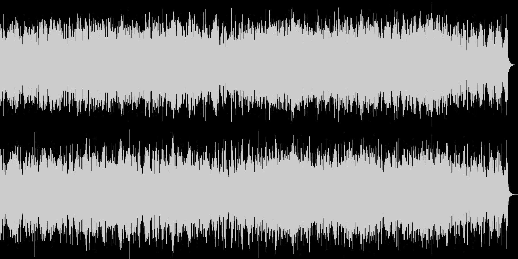 伸びやかなリラクゼーションミュージックの未再生の波形