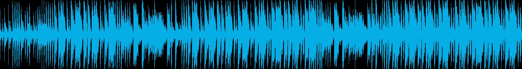 【30秒】ファンキーなブレイクビーツの再生済みの波形