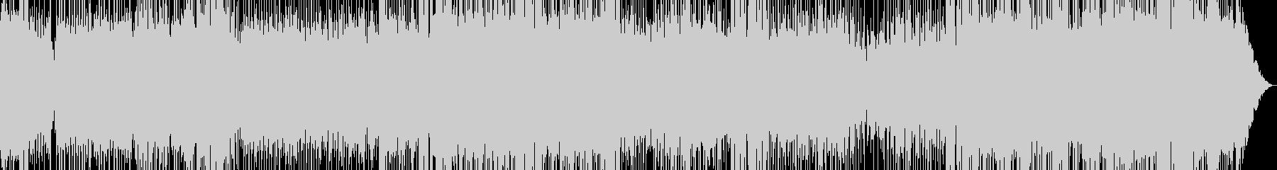 パワフルでアップテンポなファンクの未再生の波形