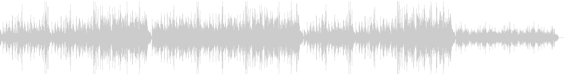 アコギとハープの優しいアルペジオBGMの未再生の波形