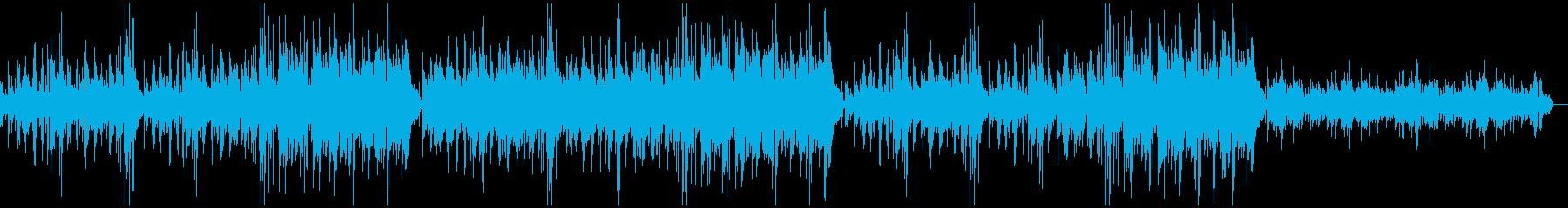 アコギとハープの優しいアルペジオBGMの再生済みの波形