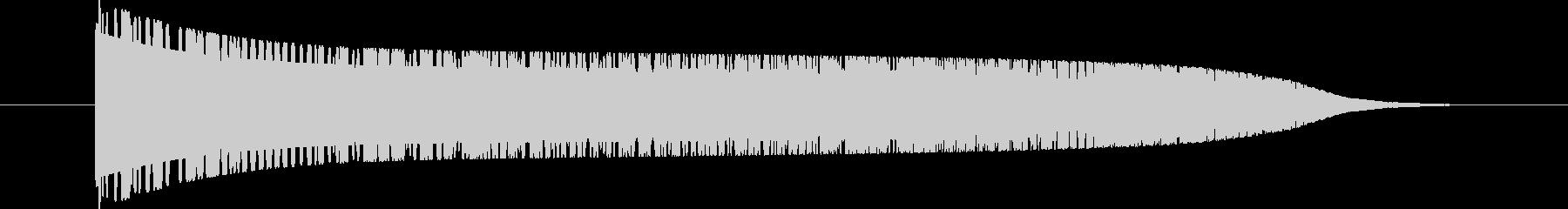 ヒューン(メーターが上がっていく音)の未再生の波形