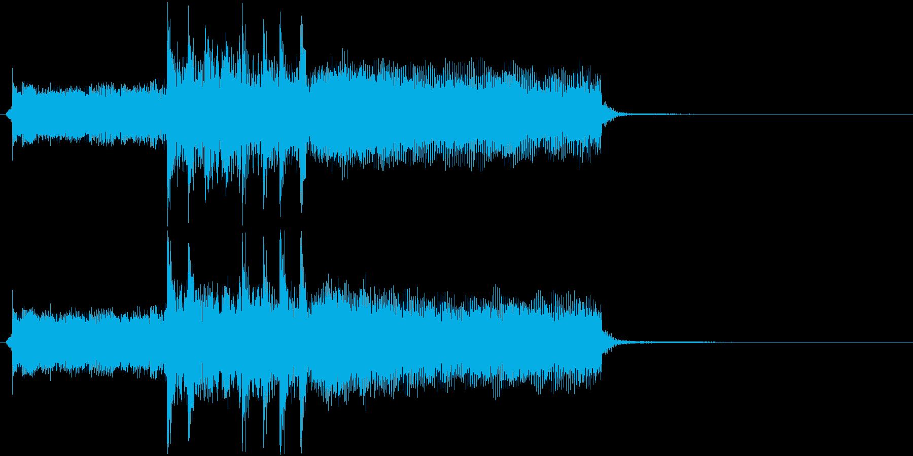 ロックでポップなギターリフのジングルの再生済みの波形