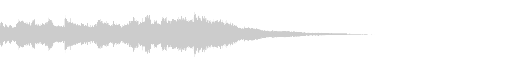 キラキラしたジングル(ステレオ)の未再生の波形