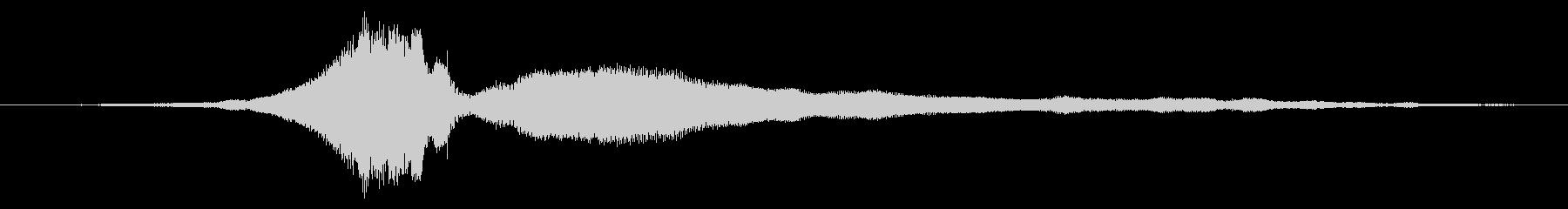 サイドカー:中速でのシングルパスの未再生の波形