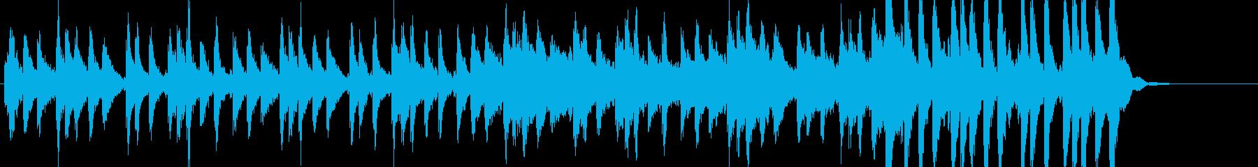 ゲームの戦闘シーンにあう曲の再生済みの波形