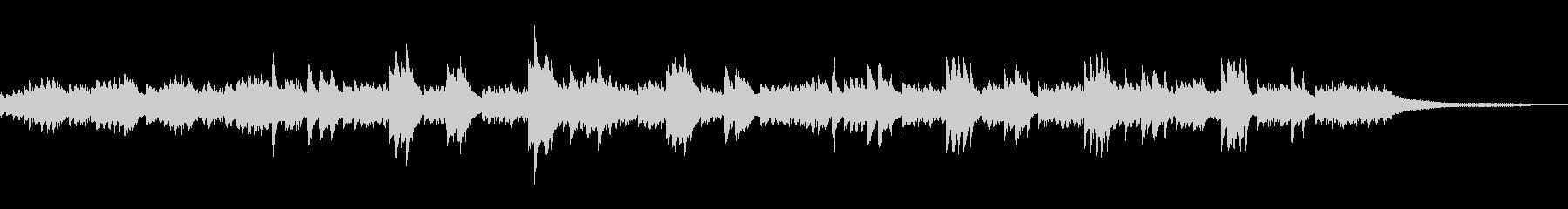 切ないピアノのバラードの未再生の波形